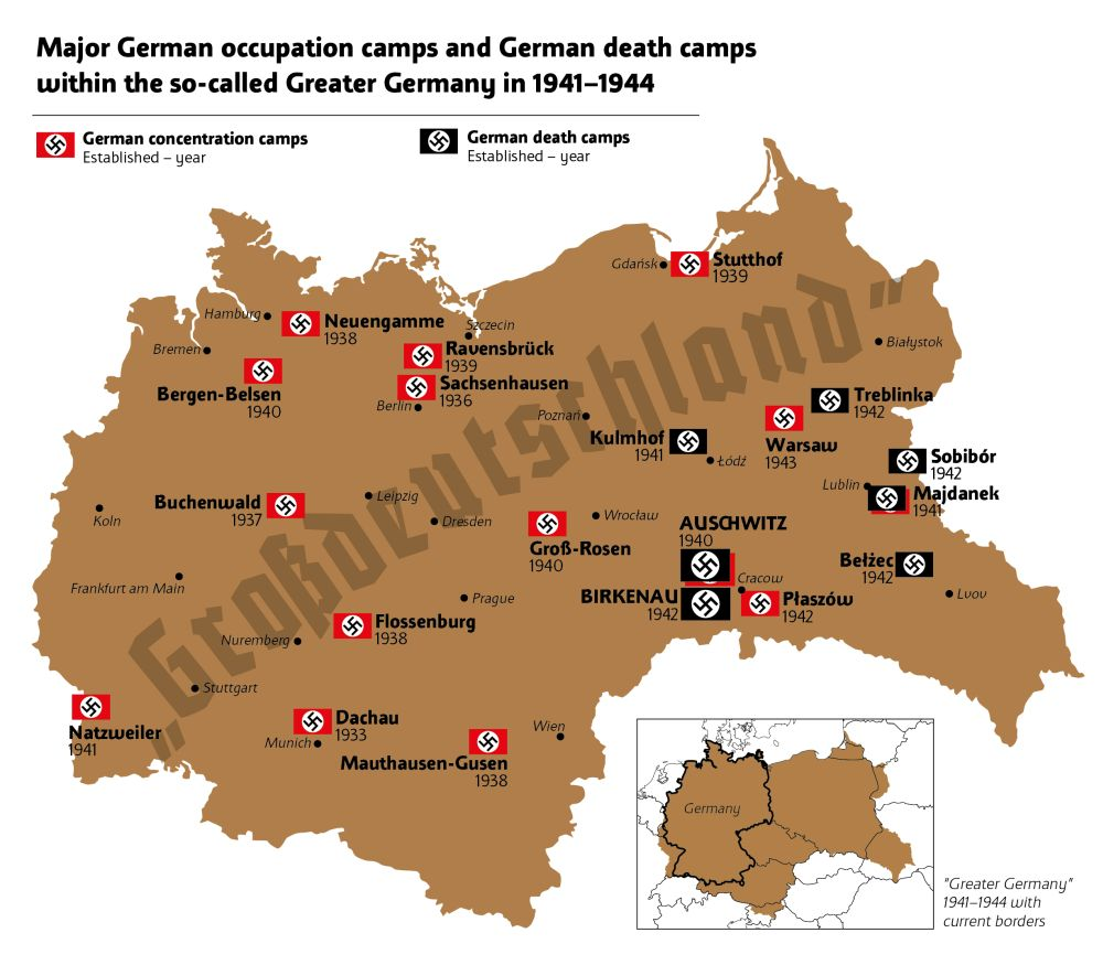 Truth About Camps W Imię Prawdy Historycznej En - Germany map of concentration camps
