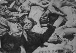 Corpses of murdered prisoners in KL Dachau. / after the liberation of the camp in April 1945 / (IPN)