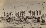 Execution at a railway station in Rożki near Radom on October 12, 1942. After an accidental exchange of fire between a group of Polish conspirators and the German Gendarmerie 15 people were publicly hanged here. The bodies hung on the gallows all day, and