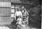 Max Pauly, commandant of the Stutthof concentration camp, with his wife and children in front of their house in Gdańsk-Wrzeszcz. Photograph taken between 1939 and 1942. (IPN)