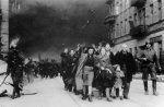 Jews driven out the city by the Germans during the Warsaw Ghetto Uprising, April–May 1943. (IPN)