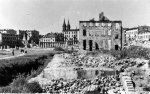 Łódź ghetto ruins after World War II, 1945. (IPN)